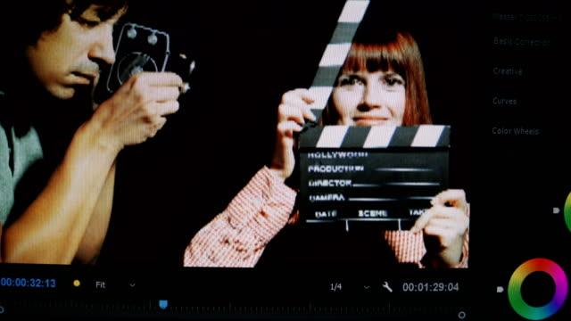 Video editing. Editing a video in an editing program