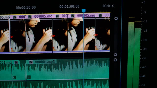 Video editing. Editing a video in an editing program
