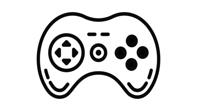 Video Game Line Motion Graphic