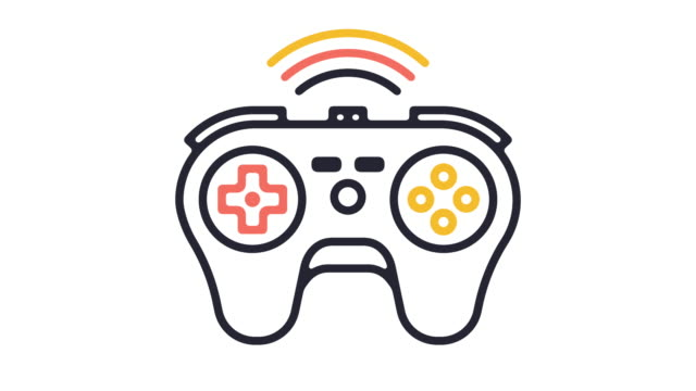Video Games Line Icon Animation