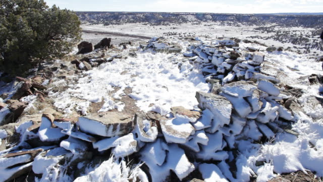 HD video Hiker explores Native stone circle Colorado
