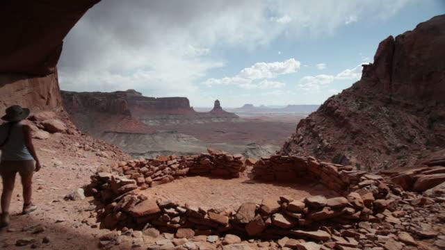 HD video hiker overlooks Canyonlands National Park Utah video