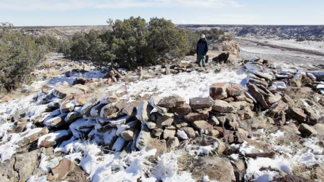 HD video hiker visits Native American village Colorado