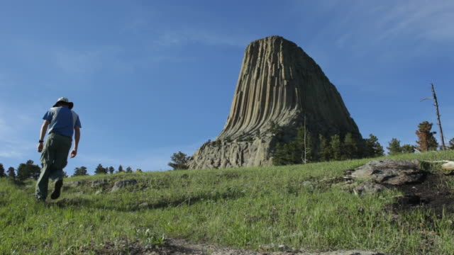 HD video hiking Devils Tower National Monument Wyoming