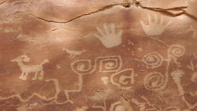 HD Video large panel of Mesa Verde NP Petroglyphs Colorado video