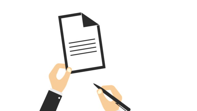 4K video. List of paper with pen on a white background. Person is writing the letter 4K video. List of paper with pen on a white background. Person is writing the letter survey icon stock videos & royalty-free footage