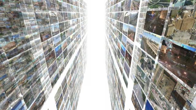 video-montage 3d (weiß - fülle stock-videos und b-roll-filmmaterial