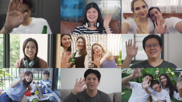 Video montage of people waving hands and looking at camera 4k footage of Video montage of people waving hands and looking at camera multiple image stock videos & royalty-free footage