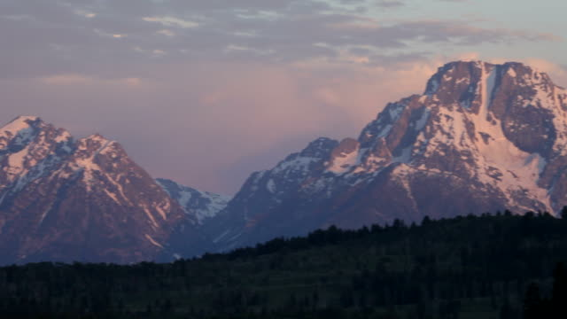HD Video Mount Moran and Grand Teton Cathedral Group Wyoming video