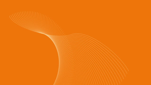 vídeos de stock e filmes b-roll de 4k video of a 3d render, which depicts solar energy on an orange background, with white abstract waves in motion. - wireframe solar power