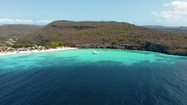 4K Video of Aerial View of Caribbean Sea and Beach in Curacao 4K Video of Aerial View of Caribbean Sea and Cas Abao Beach in Curacao curaçao stock videos & royalty-free footage