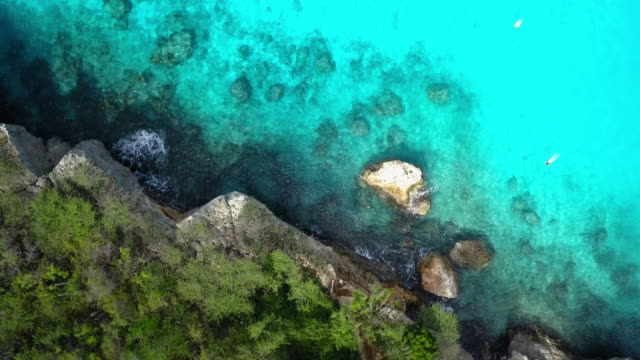 4K Video of Aerial View of Caribbean Sea in Curacao 4K Video of Aerial View of Caribbean Sea in Curacao caribbean sea stock videos & royalty-free footage