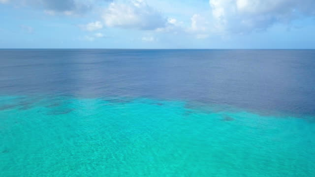 4K Video of Aerial View of Caribbean Sea in Curacao 4K Video of Aerial View of Caribbean Sea in Curacao reef stock videos & royalty-free footage