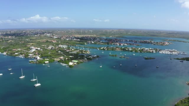 4K Video of Aerial View of Spanish Waters Bay and Caribbean Sea in Curacao 4K Video of Aerial View of Spanish Waters Bay and Caribbean Sea in Curacao curaçao stock videos & royalty-free footage