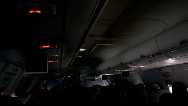 Video of airplane cabin in 4K video