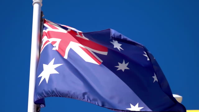 Video of Australian Flag in real slow motion video