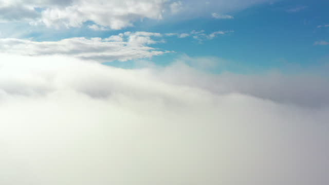 Video of beautiful and soft clouds moving on a blue sky video