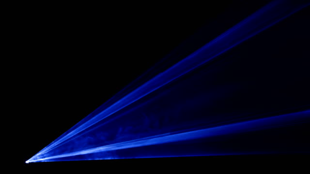 Video of blue laser show in 4K video