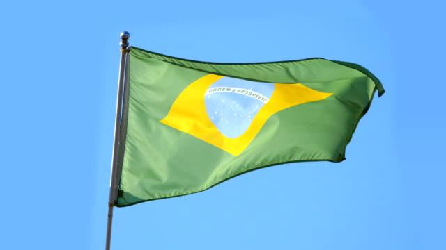 Video of Brazilian flag in 4K video