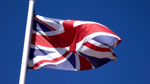 Video of British flag in 4K video