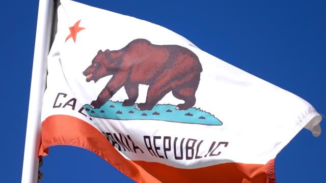 Video of california flag in 4K video