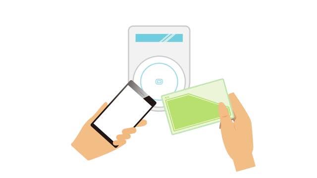 スマートフォンでのキャッシュレス決済の動画。 - クレジット決済点の映像素材/bロール
