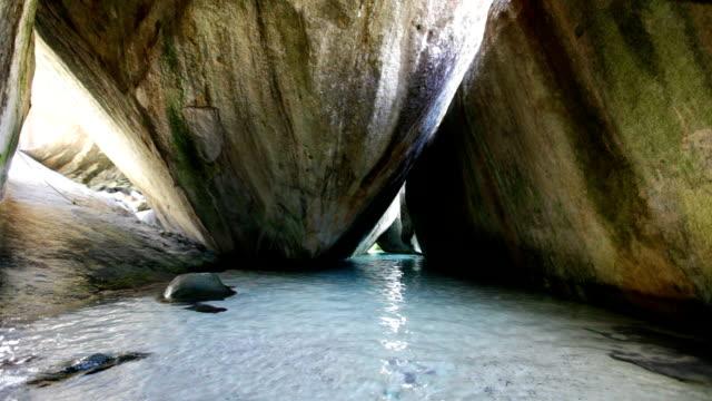 video of caves at The Baths, Virgin Gorda, BVI video