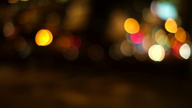 オレンジ色のトーンで多重都市夜景の 4 K 映像 ビデオ