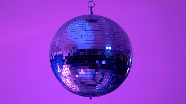 video of disco ball - wytworzony przedmiot filmów i materiałów b-roll