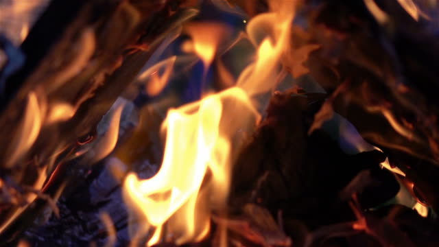 Video of fireplace in real slow motion video