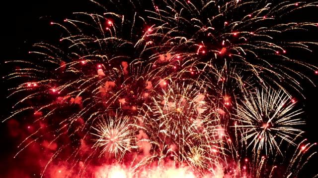 video di fuochi d'artificio - 2016 video stock e b–roll