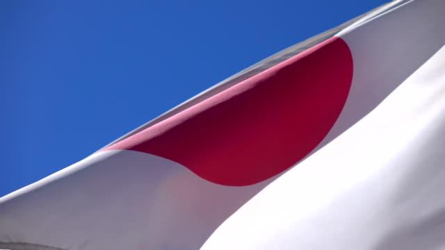Video of flag of Japan in 4K video