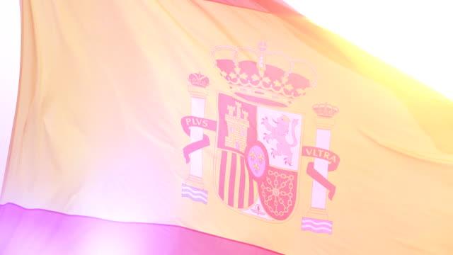 Video of flag of Spain in 4K video