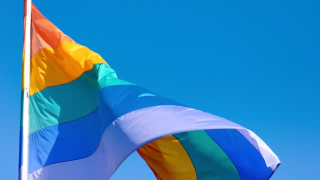 Video of gay flag in 4K video