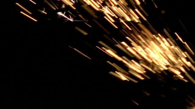Video of grinder sparks video