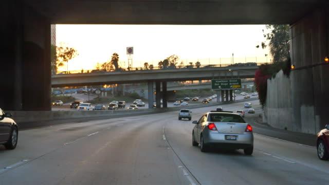 Video of highway in San Diego in 4K video