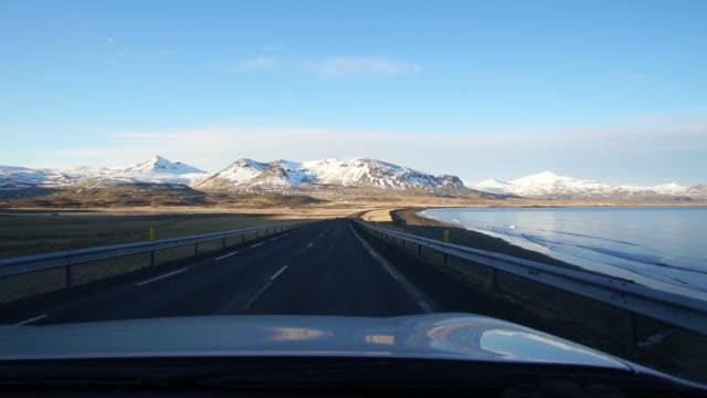 stockvideo's en b-roll-footage met video van ijsland weg reis landschapsmening - roadmap