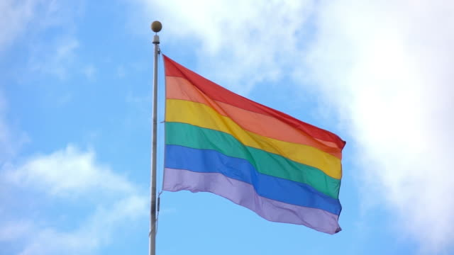 Video of LGBT flag in real slow motion video