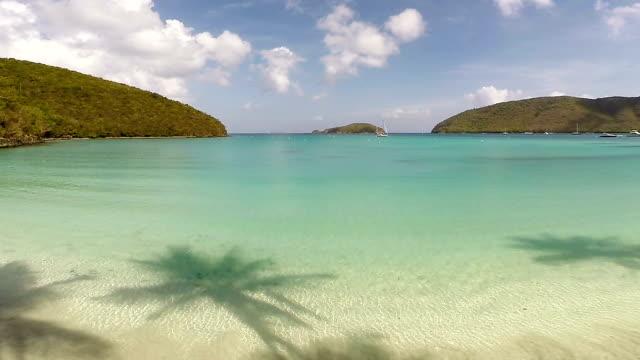 video di maho bay beach, st.john, isole vergini americane - saint martin caraibi video stock e b–roll