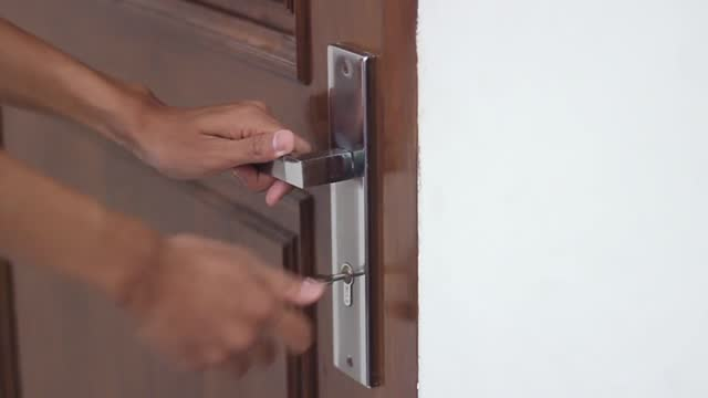 video of people locking doors