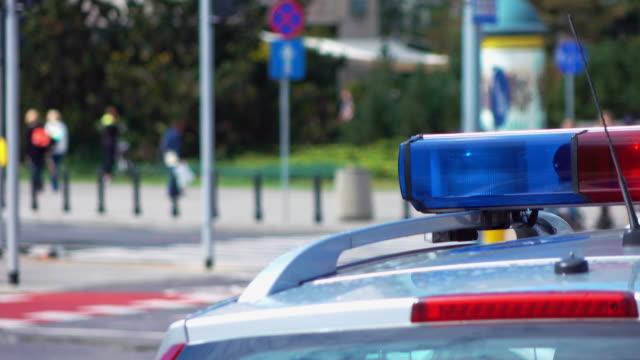Video of police lights in 4K video