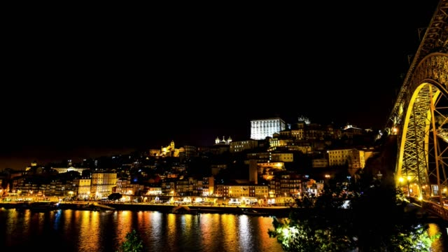 Video of Porto city at night