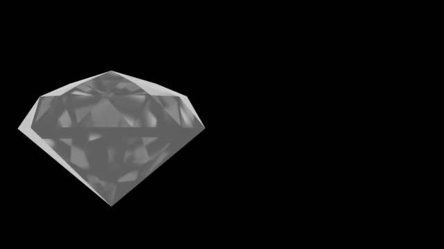 Video of rotating shining diamond