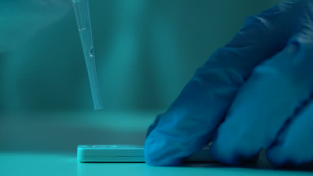 4K Video Of Scientist Working In The CDC Laboratory For Covid-19 video