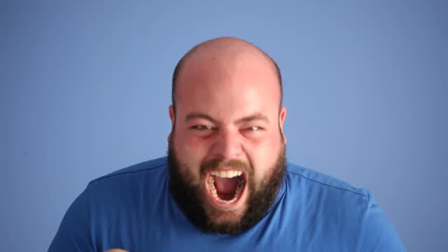 видео shouting взрослый человек - гнев стоковые видео и кадры b-roll