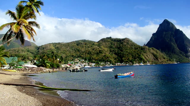 video of Soufriere bay St Lucia
