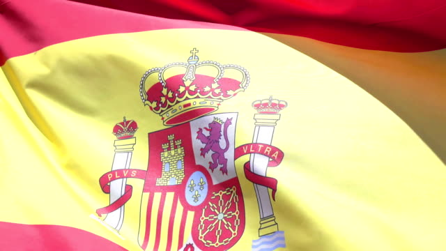 Video of Spanish Flag in 4K video