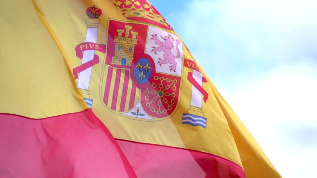 Video of Spanish Flag in real slow motion video
