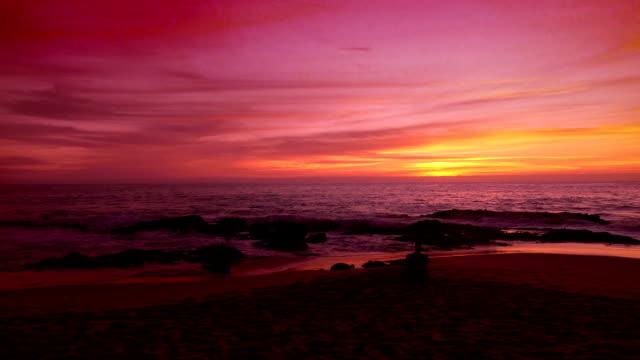 本当のスローモーションでカリフォルニアの夕日のビデオ ビデオ