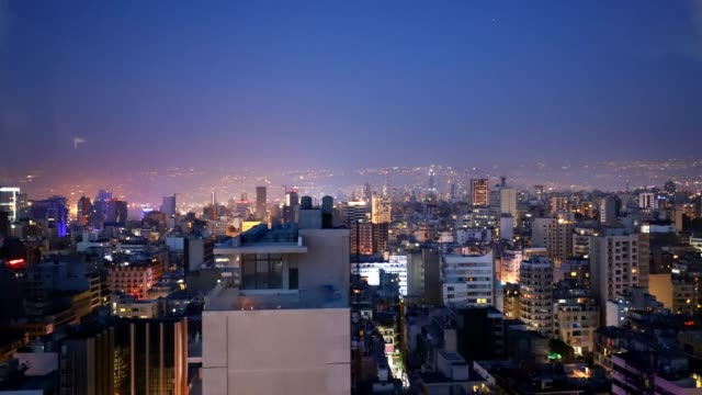 Video of the center of Beirut, the capital of Lebanon, with the lights of the skyscrapers that light up after sunset Time Lapse video of the center of Beirut, the capital of Lebanon, with the lights of the skyscrapers that light up after sunset beirut stock videos & royalty-free footage